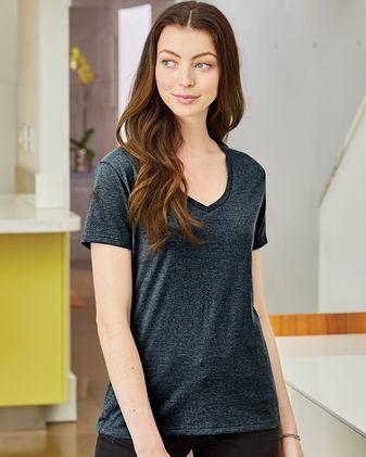 Hanes Nano-T® Women\'s V-Neck T-Shirt S04V