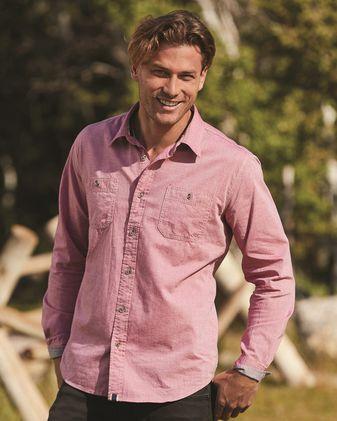 Weatherproof Vintage Chambray Long Sleeve Shirt 154885