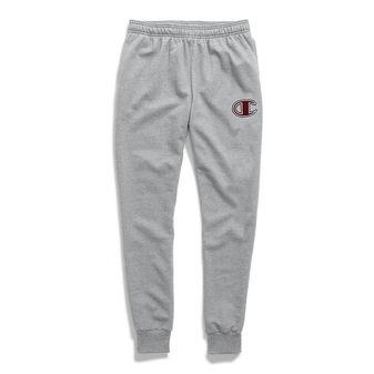 Champion Men\'s Powerblend Fleece Joggers, C Logo With White Chainstitch
