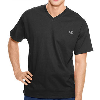 Champion Authentic Mens Jersey V-Neck T-Shirt T4651
