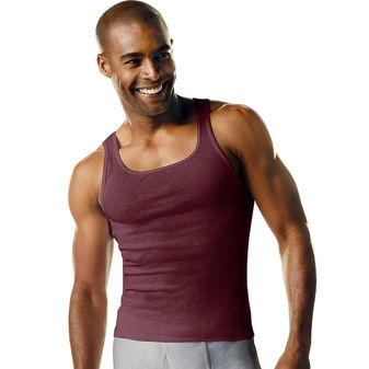 Hanes Men\'s TAGLESS® Ribbed A-Shirt 4-Pack 392P4