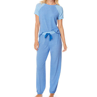 Hanes Ultimate Womens Raglan Tee Sleep Set 28994