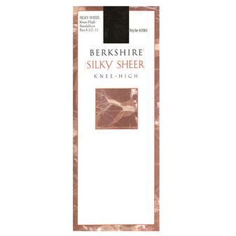 Berkshire Women\'s Silky Sheer Knee High Sandalfoot Pantyhose 6380