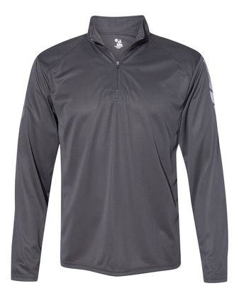 Badger Metallic Print Quarter-Zip Pullover 4148