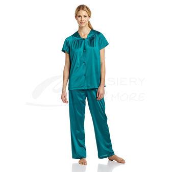 Vanity Fair Plus Size Coloratura Sleepwear Short Sleeve Pajama Set 90807