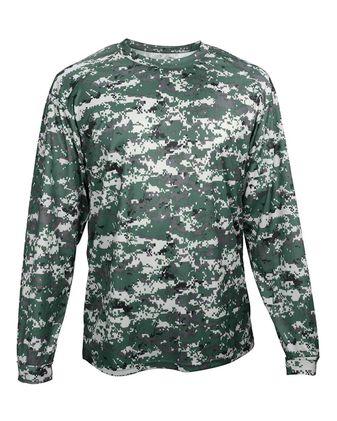 Badger Youth Digital Camo Long Sleeve T-Shirt 2184