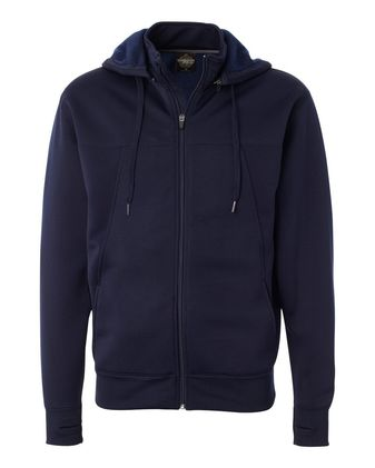 Independent Trading Co. Poly-Tech Full-Zip Hooded Sweatshirt EXP80PTZ