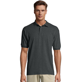 Hanes Men\'s Cotton-Blend EcoSmart® Jersey Polo Sty# 054X