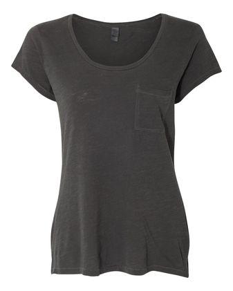 Alternative Women\'s Washed Slub Favorite Pocket T-Shirt 12412