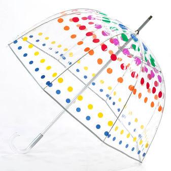 Totes Clear Primary Dots Bubble Umbrella