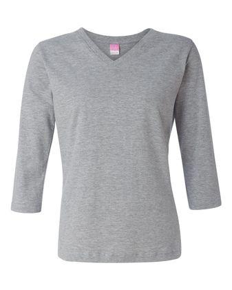 LAT Women\'s 3/4 Sleeve Premium Jersey Tee 3577