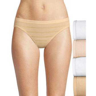 Hanes Women\'s Ultimate Comfort Flex Fit Bikini 4-Pack 42CFF4