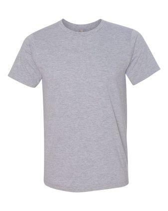 Bayside USA-Made Ringspun 50/50 Heather Unisex T-Shirt 5010