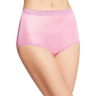 Hanes Womens Nylon Brief Panties 6-Pk PP70AS