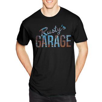 Hanes Men\'s Rusty\'s Garage Graphic Tee GT49 Y06358