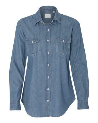 Weatherproof Vintage Women\'s Denim Long Sleeve Shirt W154695