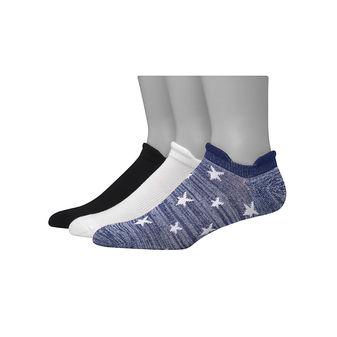 Hanes Men\'s 1901 Heritage Heel Shield Cushion No Show Socks 3-Pack HT5L3