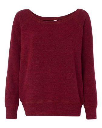 BELLA + CANVAS Women\'s Sponge Fleece Wide Neck Sweatshirt 7501