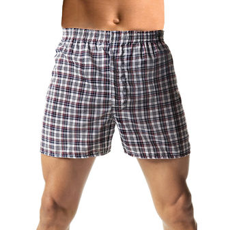 Hanes Men\'s TAGLESS® Woven Boxers with Comfort Flex® Waistband 3X-5X 3-Pack H155W