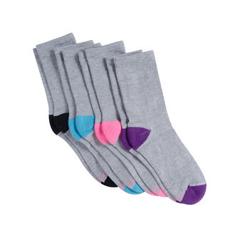 Hanes Women\'s Cool Comfort Crew Sock 4-Pack 4A4/4