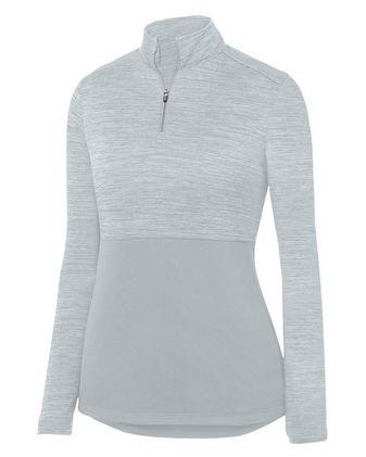 Augusta Sportswear Women\'s Shadow Tonal Heather Quarter-Zip Pullover 2909
