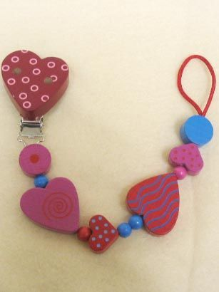 Haba Heart Pacifier Chain
