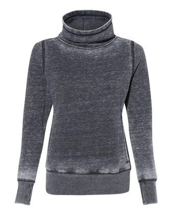 J. America Vintage Zen Fleece Women\'s Cowl Neck Sweatshirt 8930