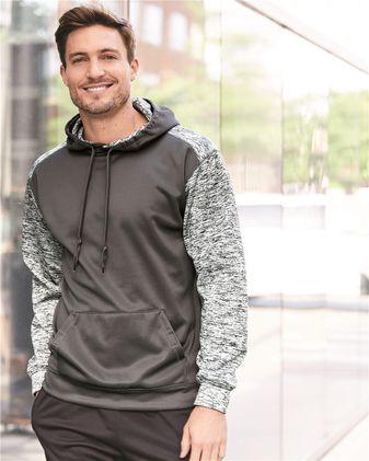 Badger Sport Tonal Blend Fleece Hooded Sweatshirt 1461