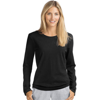 Hanes Women\'s Long-Sleeve Crewneck T-Shirt O9133
