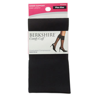 Berkshire Comfy Cuff Plus Sheer Graduated Compression Trouser Sock 5202