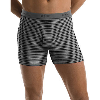 Hanes Men\'s TAGLESS® Ultimate Fashion Stripe Boxer Briefs with Comfort Flex® Waistband 5-Pack 76925S