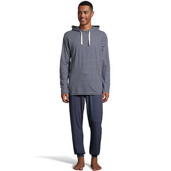 Hanes Men\'s 1901 Heritage Striped Hoodie with Jogger Pant Set 4164