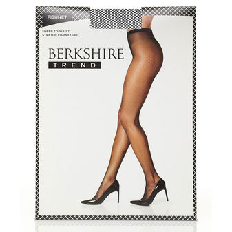 Bekshire Fishnet With Cotton Gusset Pantyhose 8010