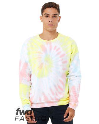 BELLA + CANVAS Fashion Unisex Tie-Dye Crewneck Sweatshirt 3945RD
