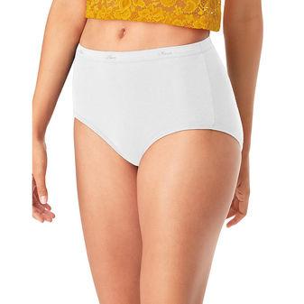 Hanes® Cool Comfort™ Women\'s Cotton Brief Panties 6-Pack PP40WH