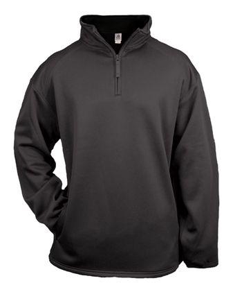 Badger Youth Quarter Zip Poly Fleece Pullover 2480