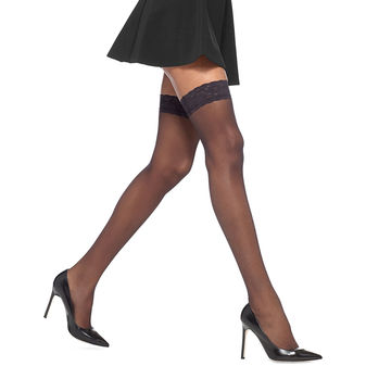 HUE French Lace Thigh-Hi U5971N