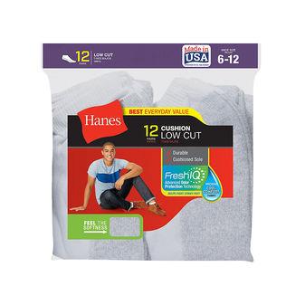 Hanes Men\'s Low Cut Socks 12-Pack 188V12
