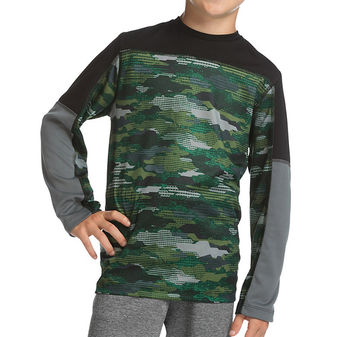 Hanes Sport Boys\' Long Sleeve Pieced Tech Tee OD256