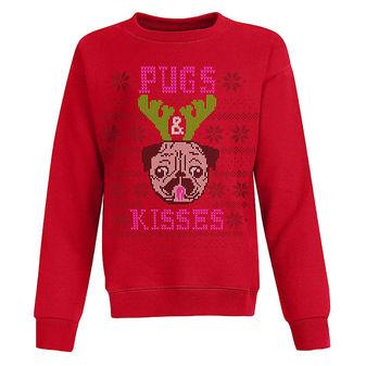 Hanes Girls\' Ugly Christmas Sweatshirt OK293