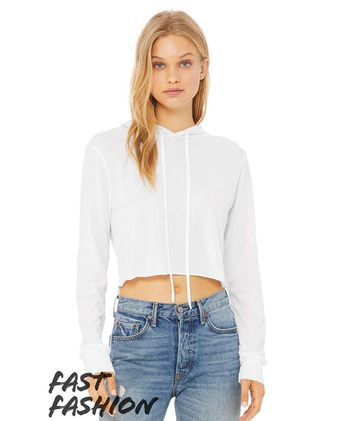 Bella + Canvas Fast Fashion Women\'s Cropped Long Sleeve Hoodie 8512