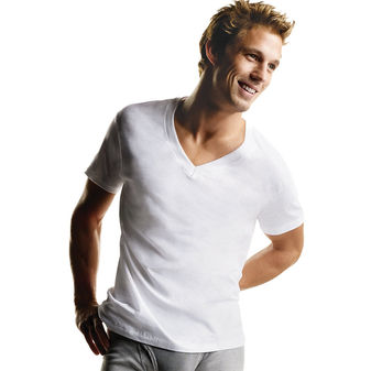 Hanes Men\'s TAGLESS® V-Neck Undershirt 6-Pack 777VP6