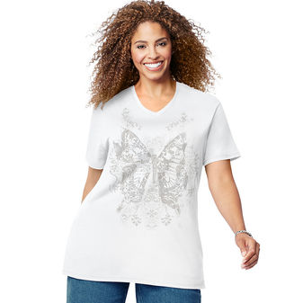 Just My Size Fall Wings Short Sleeve Graphic Tee GTJ181 Y07237