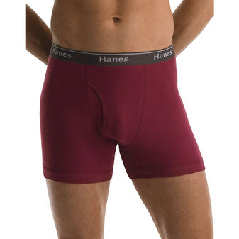 Hanes Classics Mens Assorted Dyed Boxer Briefs P5 76925A