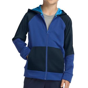 420371ed4df3 Hanes Sport Boys Tech Fleece Full Zip Hoodie OD257   14.75 ...