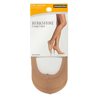 Berkshire Cotton Sole Extended Size Comfy Liner  2 Pair  5210