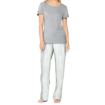 Hanes Ultimate Womens Scoopneck Tee / Pants Sleep Set 28996