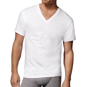 Hanes Men\'s Fresh IQ Cotton/Modal V-Neck Undershirt 3-Pack 7777M3