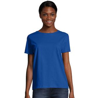 Hanes Women\'s Relaxed Fit Jersey ComfortSoft® Crewneck T-Shirt 5680