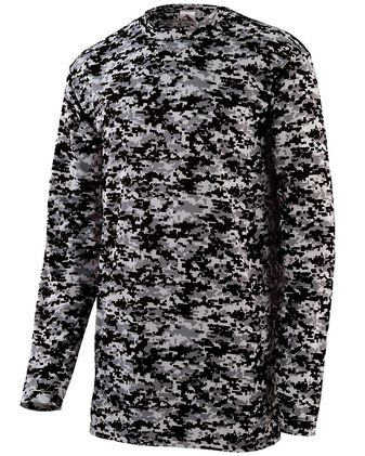 Augusta Sportswear Digi Camo Wicking Long Sleeve T-Shirt 2788